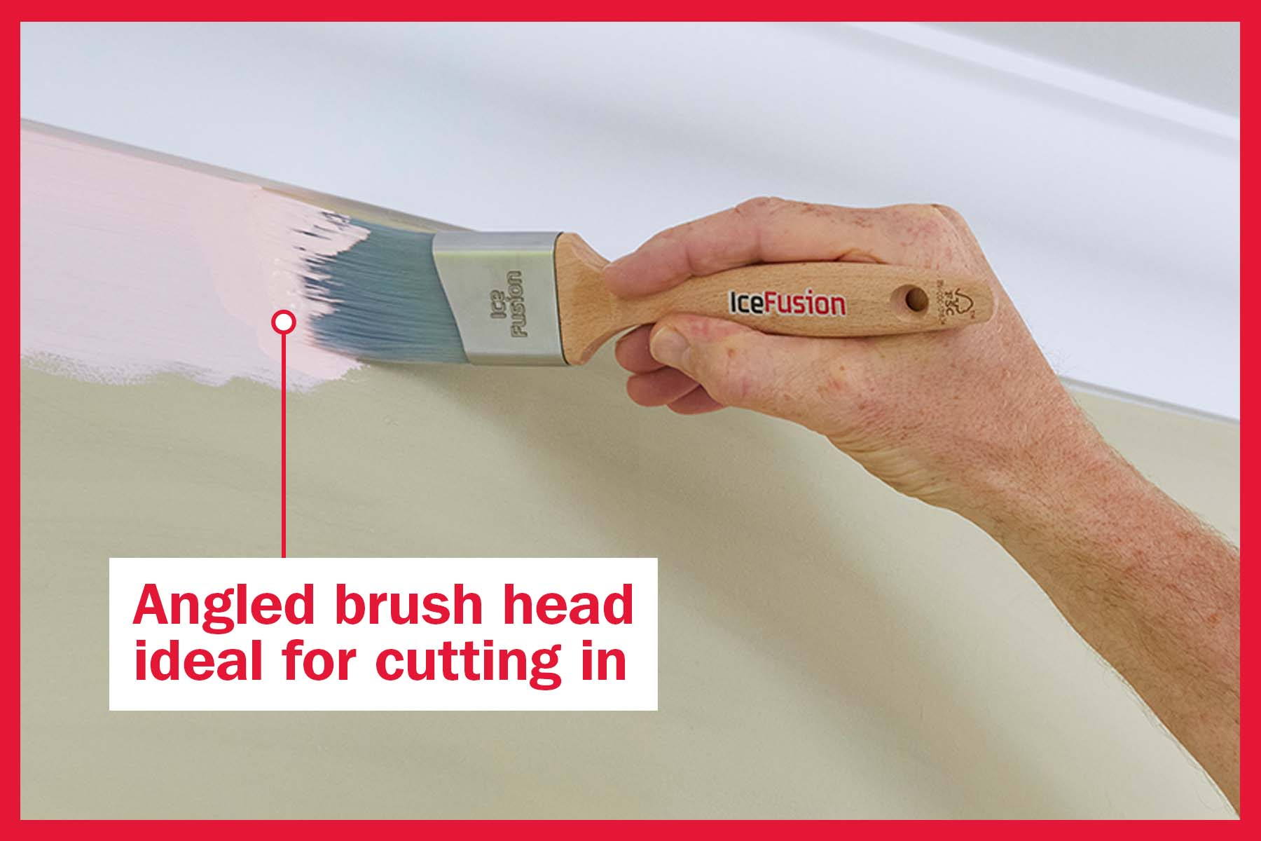 Angle brush head ideal for cutting in