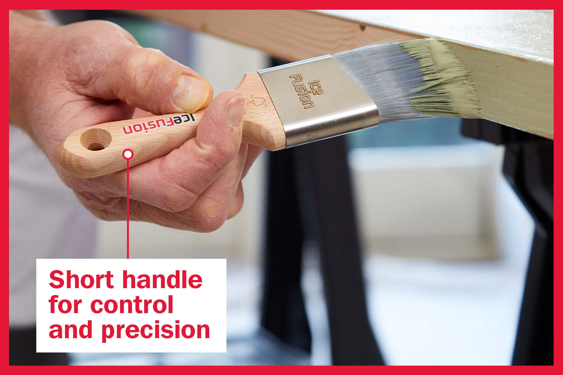 Short Handle for control and precision